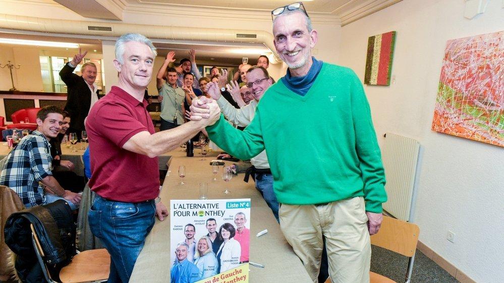 En 2016, Pierre Contat (UDC) et Guy Cristina (Entente) remportaient deux sièges pour l'Alternative pour Monthey. En 2020, ils feront liste à part.