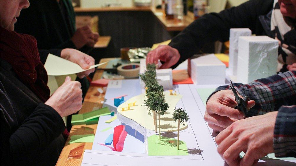 En proposant aux participants d'élaborer des maquettes, les initiateurs du projet entendent rendre la démarche plus concrète.