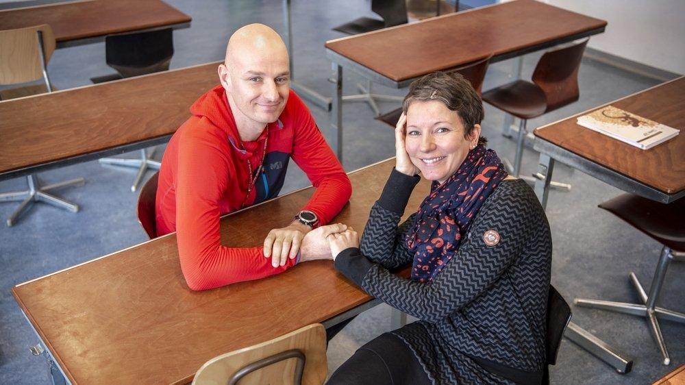 Christophe et Jeanne-Andrée Jacquemettaz, les enseignants de Vétroz.