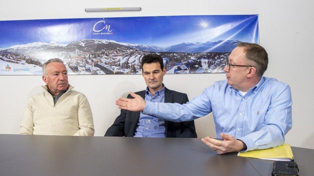 Sur la question de l'ACCM, la tension est palpable entre Martial Kamerzin, président d'Icogne, David Bagnoud, président de Lens, et Nicolas Féraud, président de Crans-Montana.