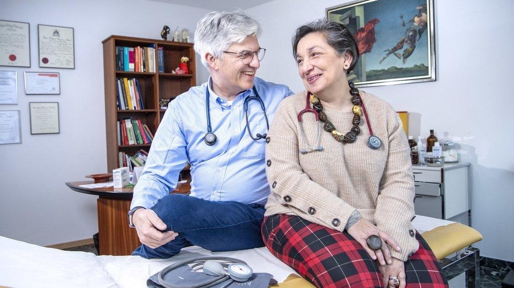 Gilbert et May Monney, les médecins de Vétroz.