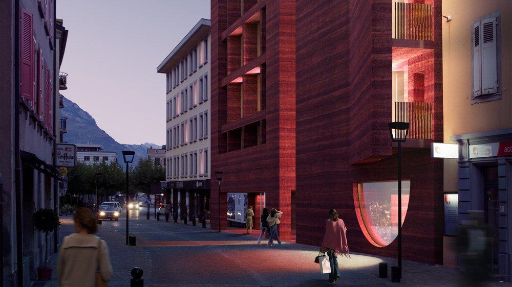 Le futur Lô Dzè Hôtel, qui va être érigé à quelques mètres de la place Centrale de Martigny, promet d'être une attraction en soi.