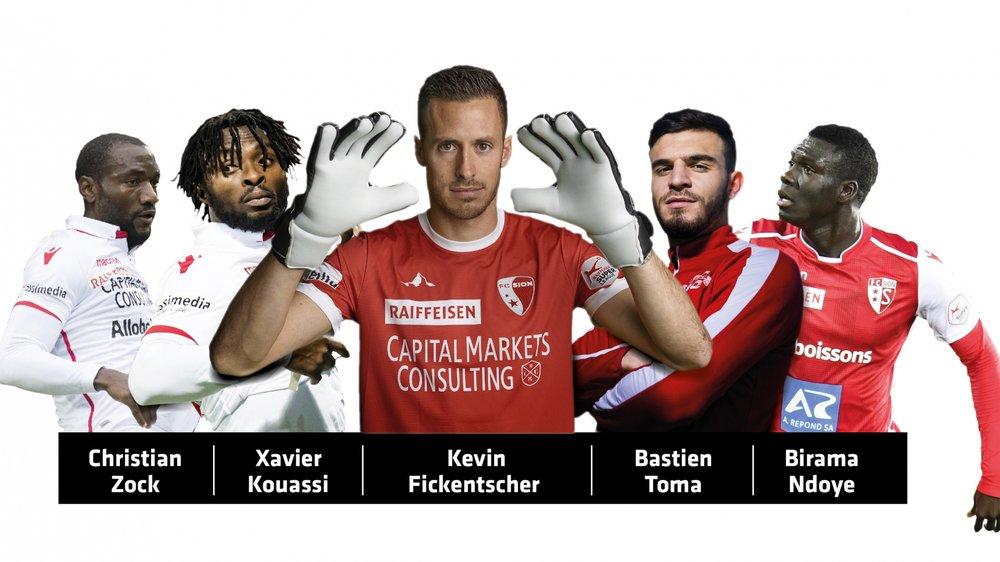 Les cinq meilleurs joueurs du premier tour à la moyenne des notes attribuées par «Le Nouvelliste».