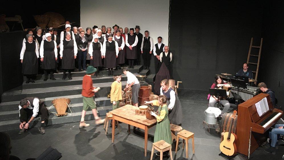 Le spectacle musical «La pierre de l'adieu» raconte le Valais sous l'occupation française du XIXe siècle.