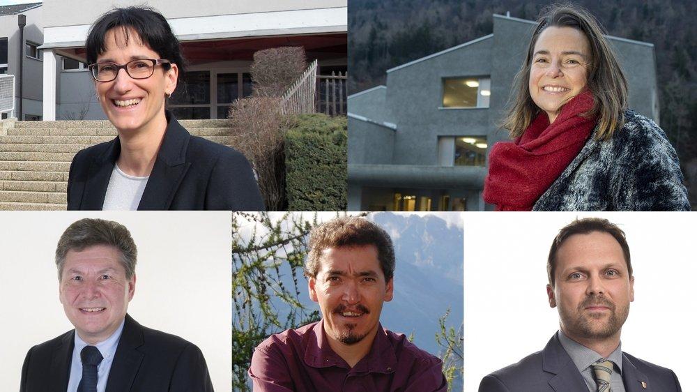A ce jour, cinq présidents sortants ont annoncé qu'ils briguaient un nouveau mandat dans les districts de Martigny et d'Entremont.