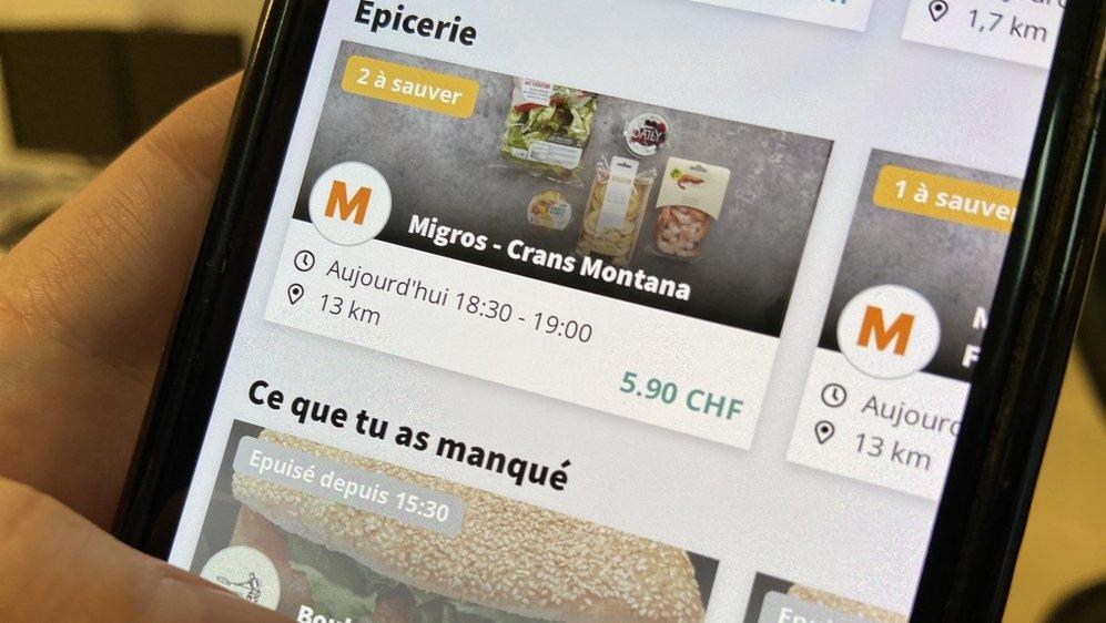 Migros Valais rejoint plusieurs boulangeries et quelques restaurants sur l'application Too Good To Go.