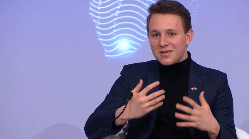 WEF: un Valaisan de 19 ans parmi l'élite mondiale à Davos