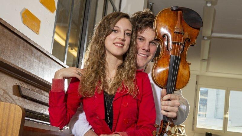 Saint-Valentin: musiciens, Fanny et Anthony s'aiment au boulot