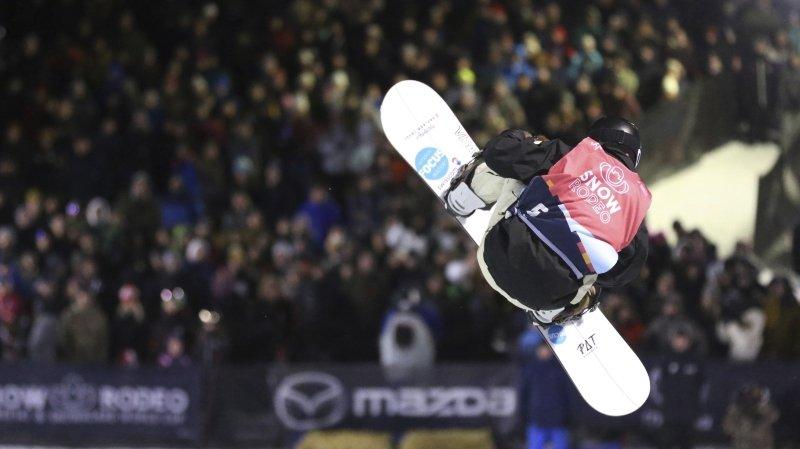 Snowboard: Pat Burgener sur le podium en halfpipe