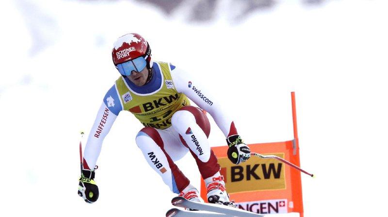 Loic Meillard avait terminé à la 20e place de la descente.