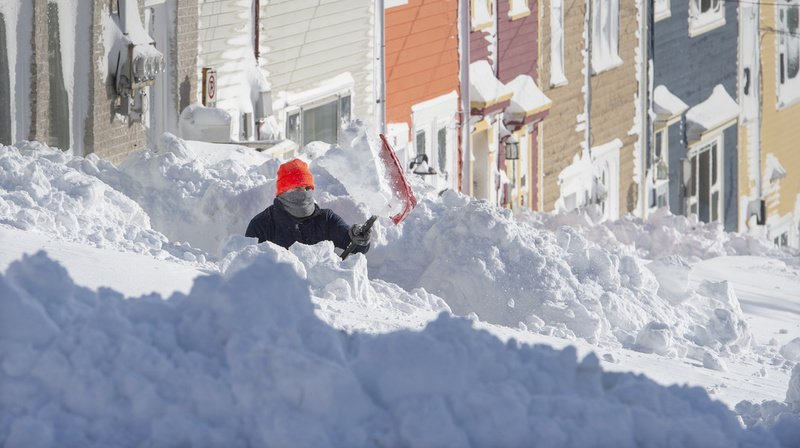Canada: la neige ensevelit la ville la plus à l'est de l'Amérique du nord