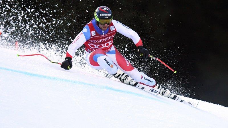 Ski alpin: Feuz manque le podium de la descente de Garmisch, Dressen sacré chez lui