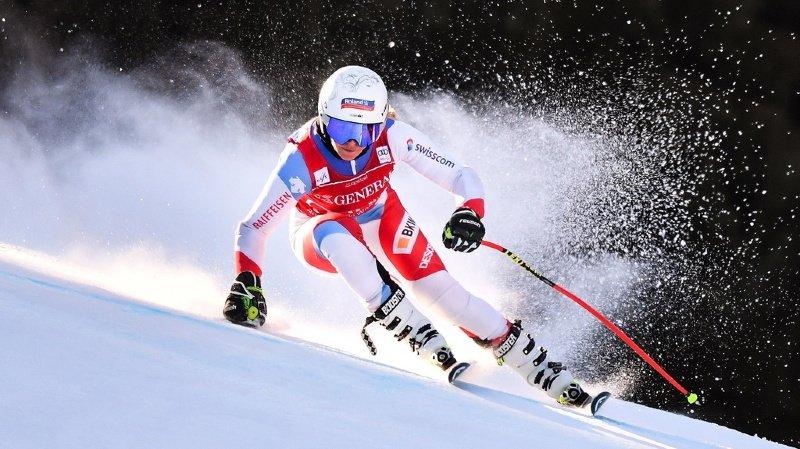 Corinne Suter a dominé l'unique entraînement en vue de la descente dames de Garmisch-Partenkirchen.