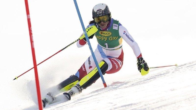 Ski alpin: Holdener occupe la 3e place après la 1re manche du slalom de Kranjska Gora
