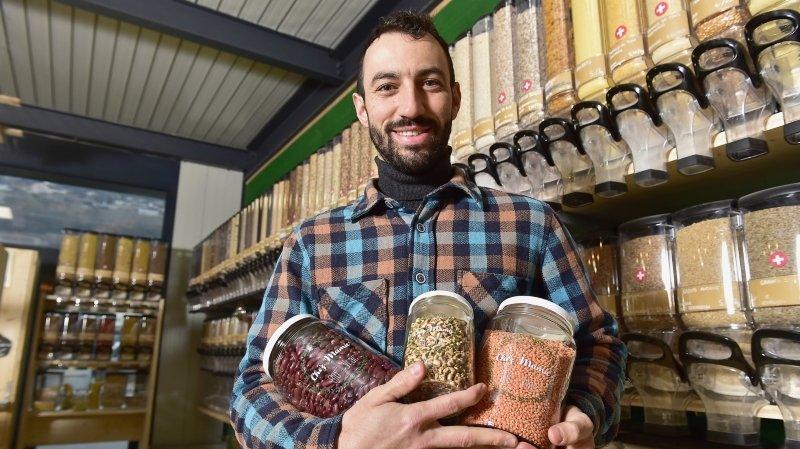 Comment remplir son panier autrement en Valais: l'épicerie de vente en vrac (2/6)