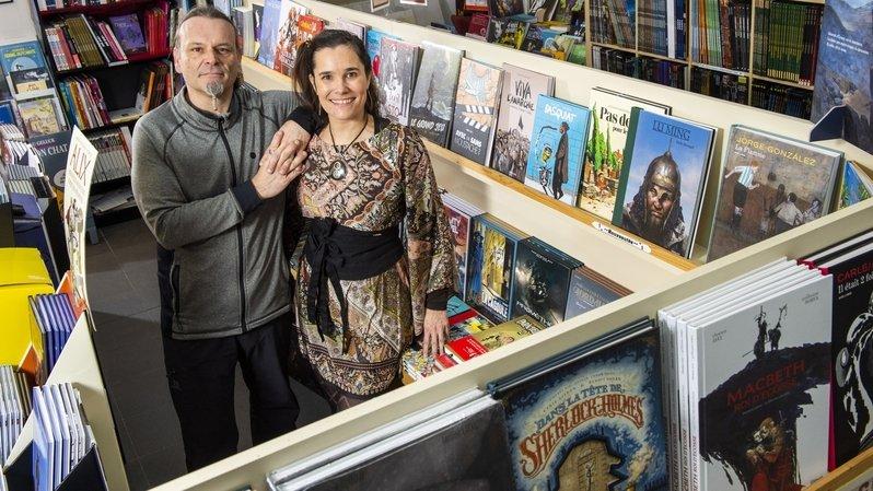 Saint-Valentin: libraires spécialisés en BD, Annick et Olivier s'aiment au boulot