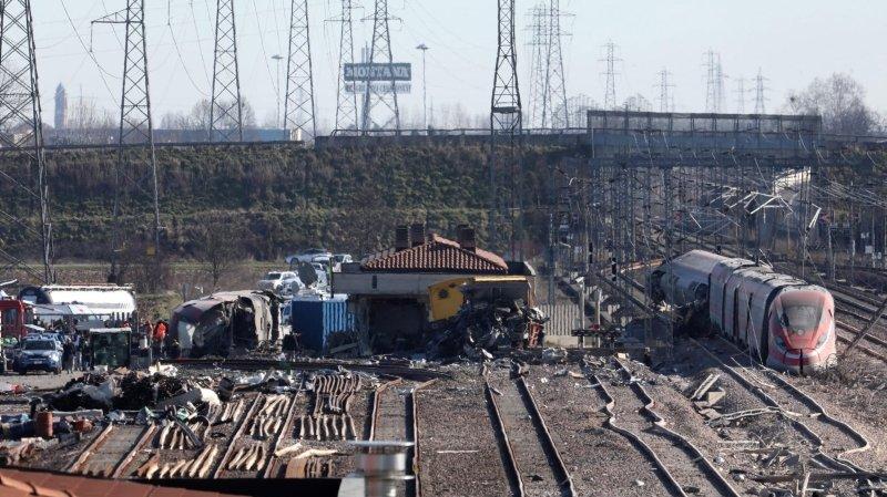 Un train déraille près de Milan: deux morts