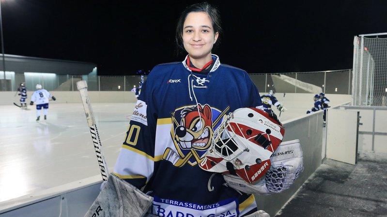 A 18 ans, Inès Mounir est l'ange gardien du HC Crans-Montana