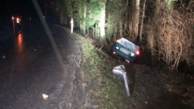 L'élève conducteur a été légèrement blessé dans l'accident.