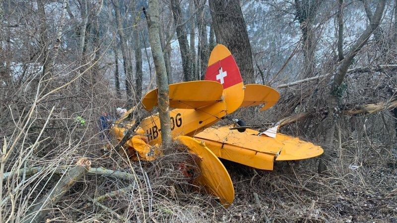 Un petit avion s'écrase près de Rarogne