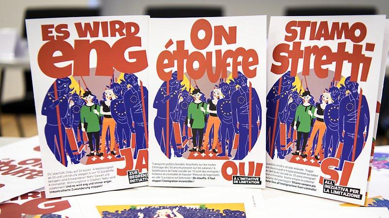 """L'ASIN a lancé sa campagne en faveur de l'initiative """"pour une immigration modérée""""."""