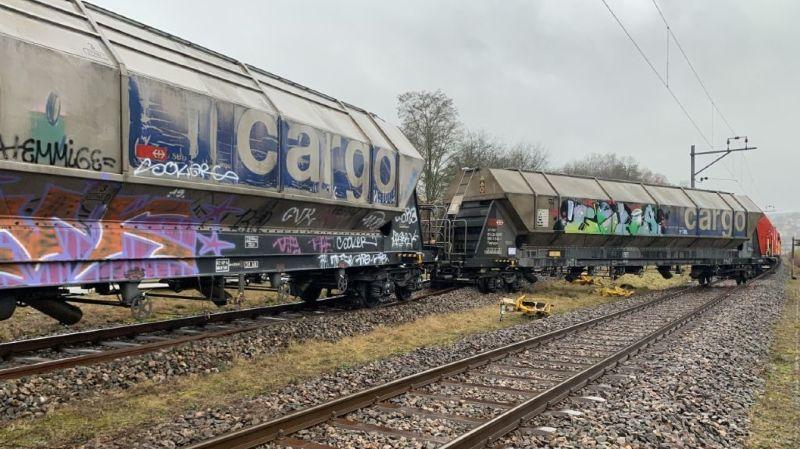 Schaffhouse: un wagon de marchandises déraille, pas de blessé