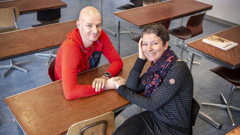 Saint-Valentin: enseignants, Christophe et Jeanne-Andrée s'aiment au boulot