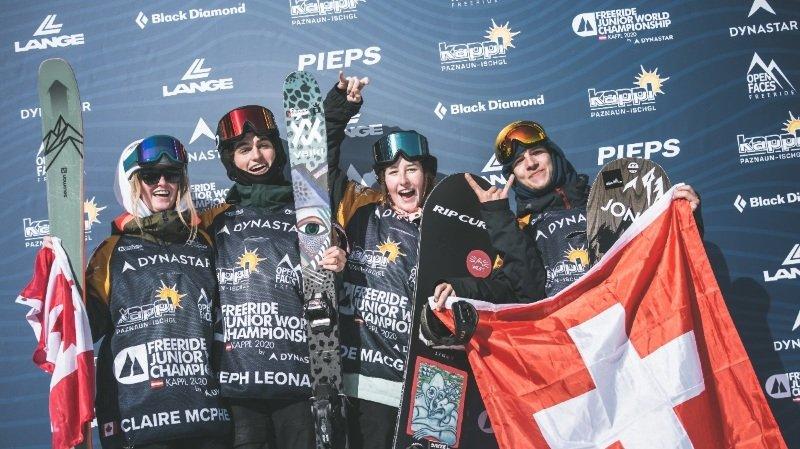 Zoe McGeorge (troisième depuis la gauche) a brillé en Autriche.