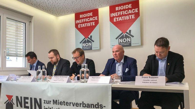 Sidney Kamerzin, Mathias Eggel, Philippe Nantermod, Paul-André Roux et Franz Ruppen estiment que l'initiative ne s'applique pas à la réalité valaisanne