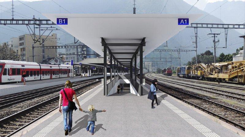 Martigny: les CFF investissent 64millions pour moderniser la gare