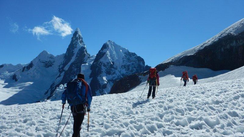 L'expédition de 2016 avait permis aux membres du Groupe Montagne Abbaye de pratiquer l'alpinisme au Pérou.