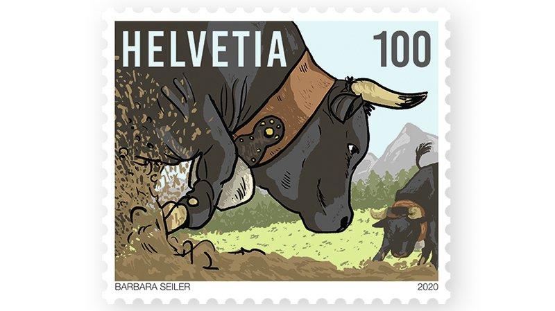 Un timbre à l'effigie de la race d'Hérens va être mis en vente.