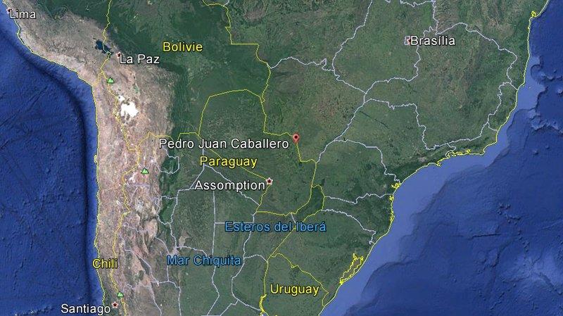 La prison de Pedro Juan Caballero se situe à la frontière avec le Brésil.