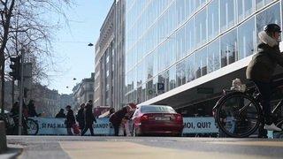 Extinction Rebellion fait un court blocage à Genève