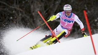 Ski alpin: Daniel Yule 2e après la première manche du slalom de Kitzbühel