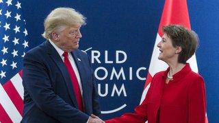 WEF 2020: Trump veut un accord de libre-échange avec la Suisse
