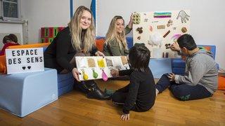 Des étudiantes valaisannes créent un espace sensoriel pour les enfants handicapés