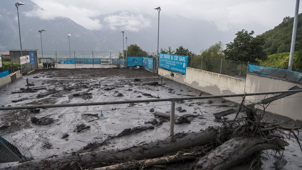 Un des courts du club avait été saccagé en août dernier à la suite du débordement de la Losentse voisine.
