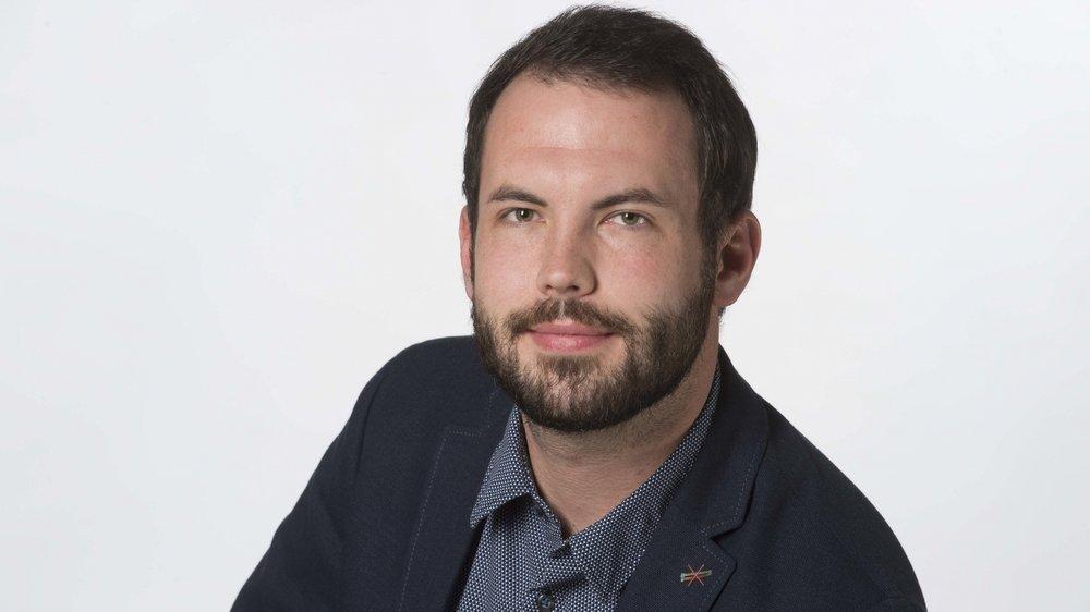 Adrien Délèze, journaliste sportif.