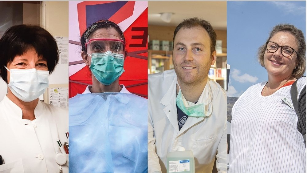 Murielle, Corinne, Terry et Isabelle: quatre héros de notre quotidien en ces temps de pandémie.