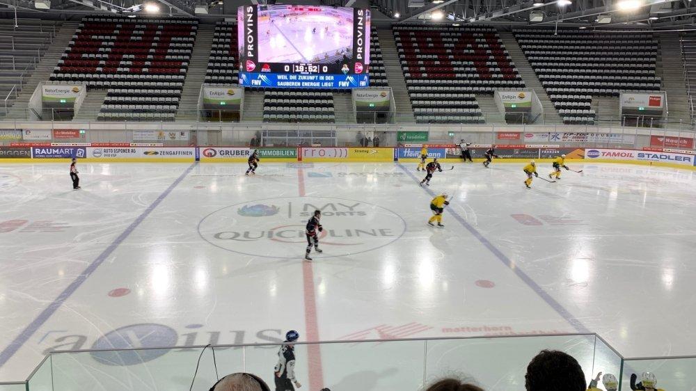 Le HC Viège a obtenu sa qualification dans une patinoire vide.