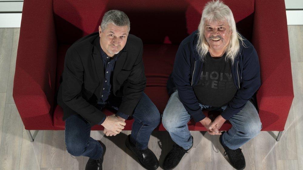 Les deux Bernard Rappaz ne s'étaient jamais parlé avant cette rencontre à la tour de la RTS à Genève.