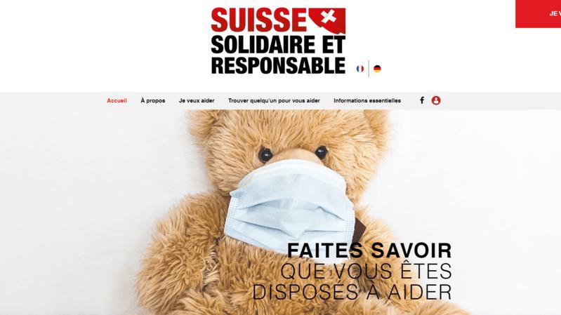 Le site suisseresponsable.ch facilite la mise en contact entre personnes qui ont besoin d'aide et bénévoles.