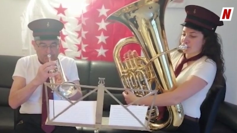Coronavirus: des centaines de musiciens ont joué «Marignan» en soutien à tous ceux qui sont au front