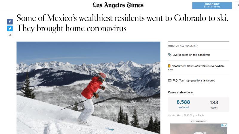 Ischgl et Vail ont aussi été des foyers de coronavirus
