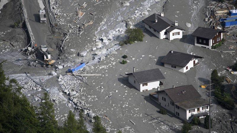 Une lave torrentielle avait provoqué l'évacuation du village de Bondo (GR) en 2017.
