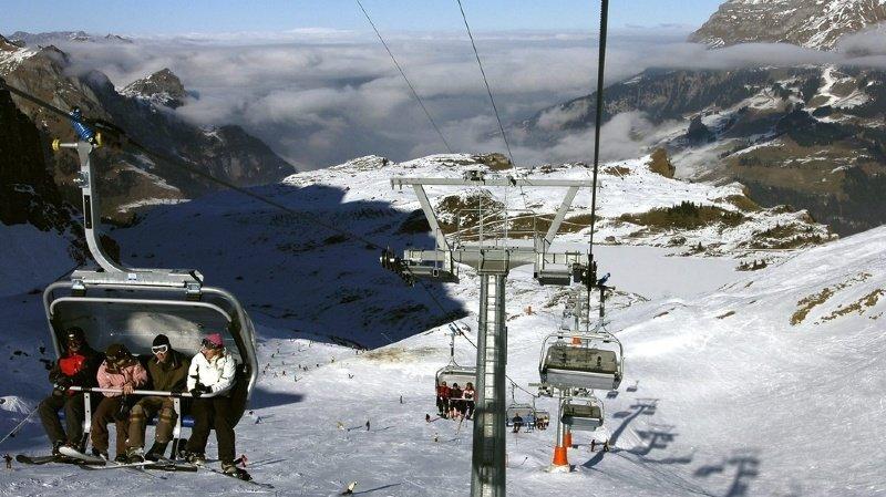 L'incident a eu lieu sur le télésiège Trübsee-Jochpass, dans le domaine skiable du Titlis. (illustration)