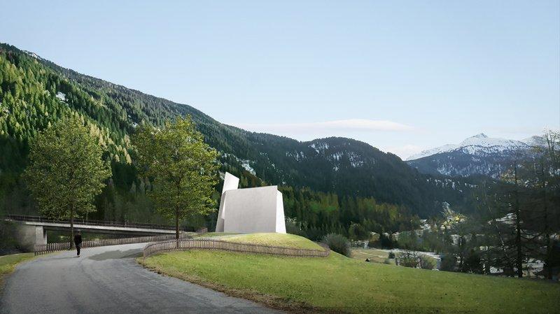 Le projet pour cette église autoroutière grisonne, du cabinet Herzog & de Meuron, a reçu l'aval du clergé.