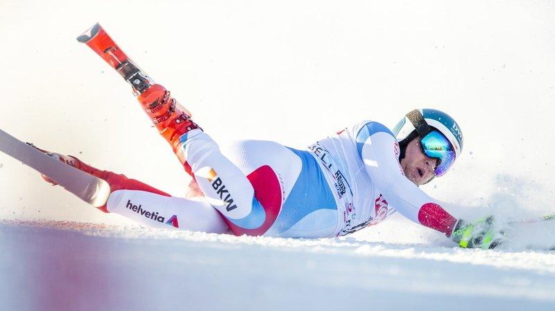 Ski alpin: Niels Hintermann se blesse au genou en Norvège