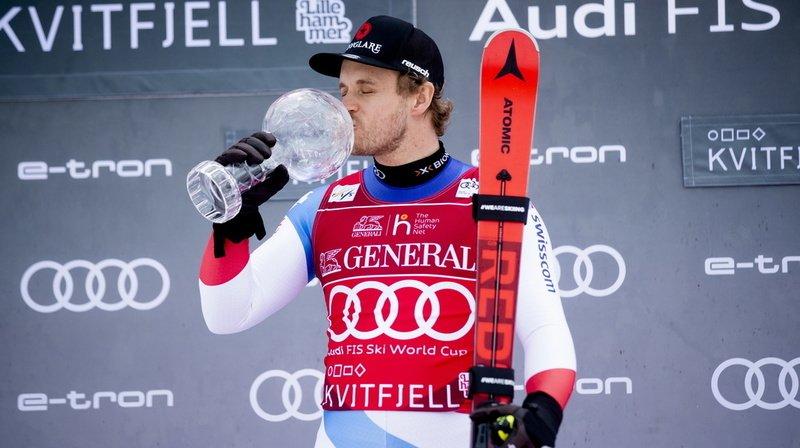 Le Grison rentre en Suisse avec le globe su Super-G.